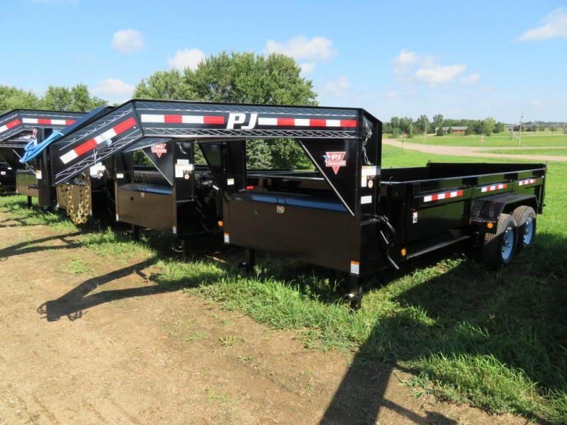 2019 PJ Trailers 16 Low Profile GN Dump Trailer