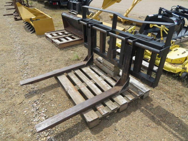 Used Black Skid Steer Pallet Forks