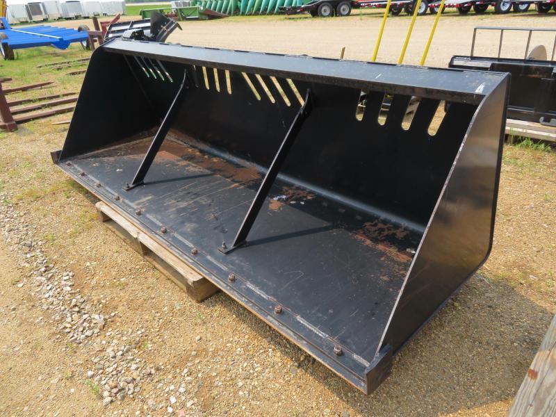 "Used Jenkins 120"" Skid Steer High Capacity Snow /  Mulch Bucket"