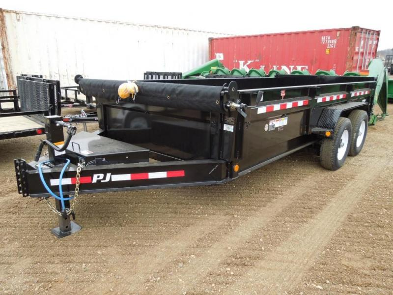2019 PJ Trailers 16 Low Profile Dump Trailer