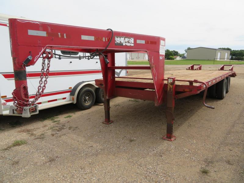 1998 Blair 24 Gooseneck Equipment Trailer