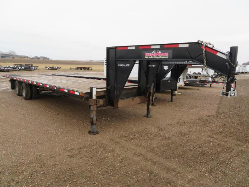 2014 Finish Line 32 Hydraulic Tail Gooseneck Trailer
