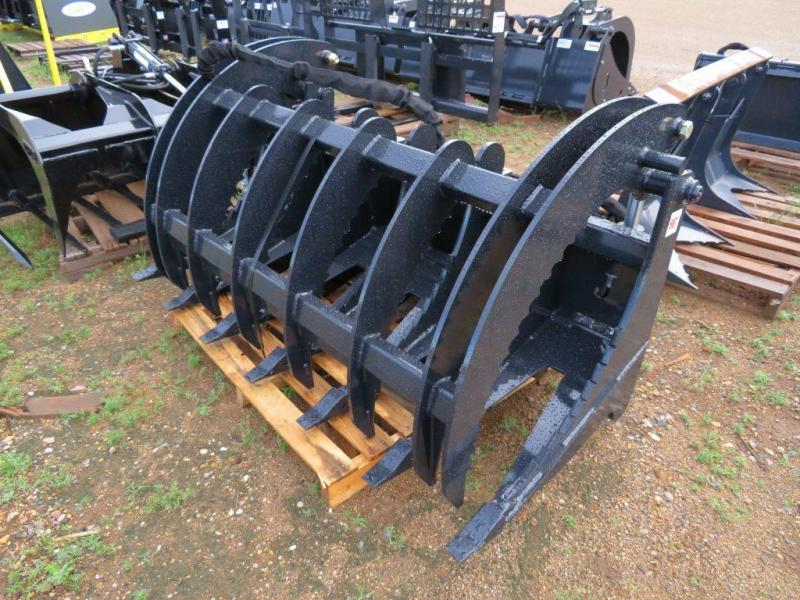 "New Jenkins 66"" Skid Steer Brush Grapple Bucket"