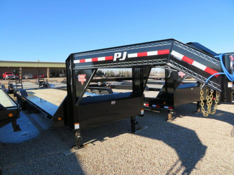 2019 PJ Trailers 30 GN Trailer w/ Monster Ramps