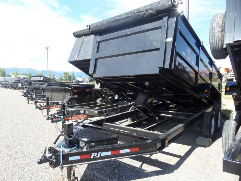 "2019 PJ Trailers Low Pro High Side Dump (DM) 83"" x 16'"