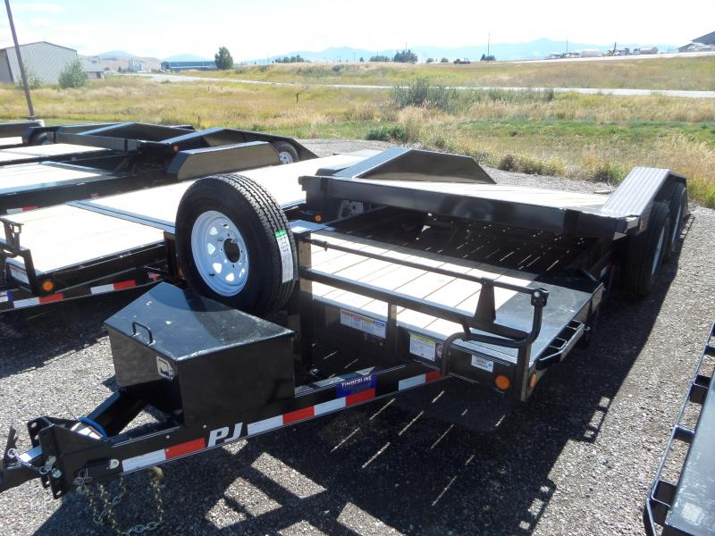 2019 PJ Trailers (TS) Super-Wide Tilt Equipment Trailer 20'