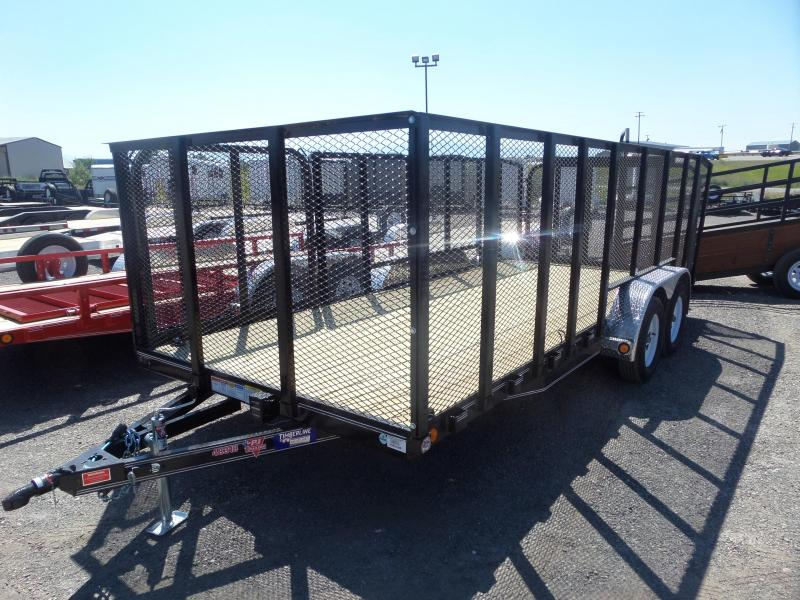 "2019 PJ Trailers 18' x 83"" Tandem Axle 4"" Channel Utility (UL)"