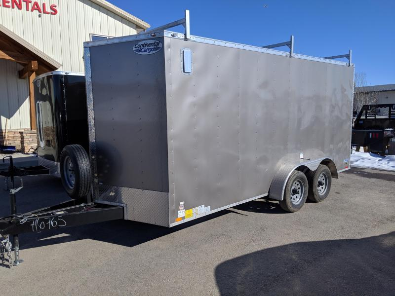 2019 Continental Cargo V-Series 7 x 16 Enclosed Cargo Trailer