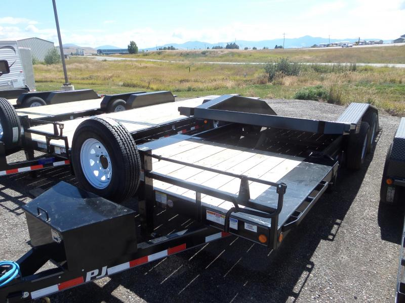 2019 PJ Trailers (TS) Super-Wide Tilt Equipment Trailer 22'