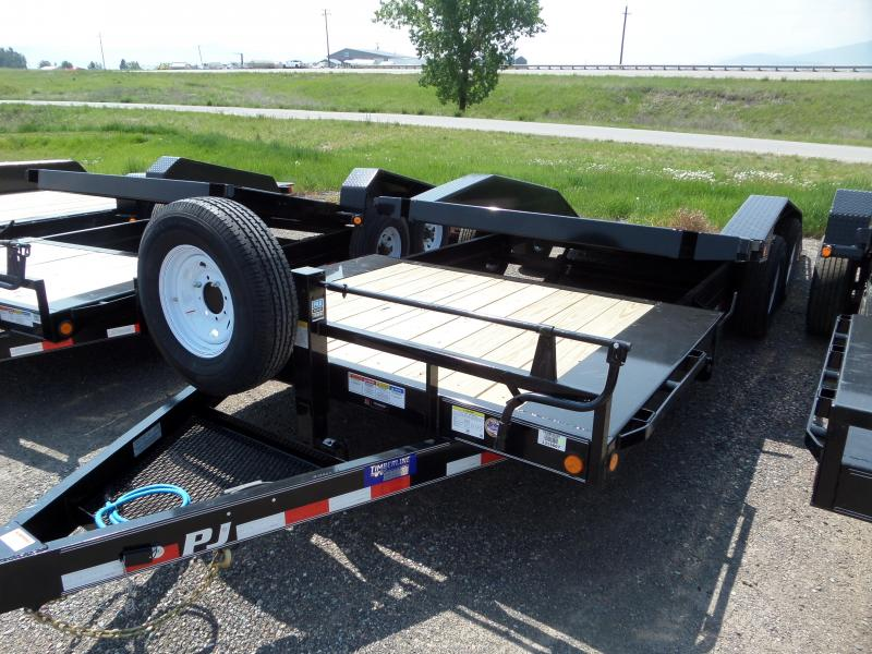 2020 PJ Trailers 6 Channel Super-Wide Tilt (TS) Equipment Trailer