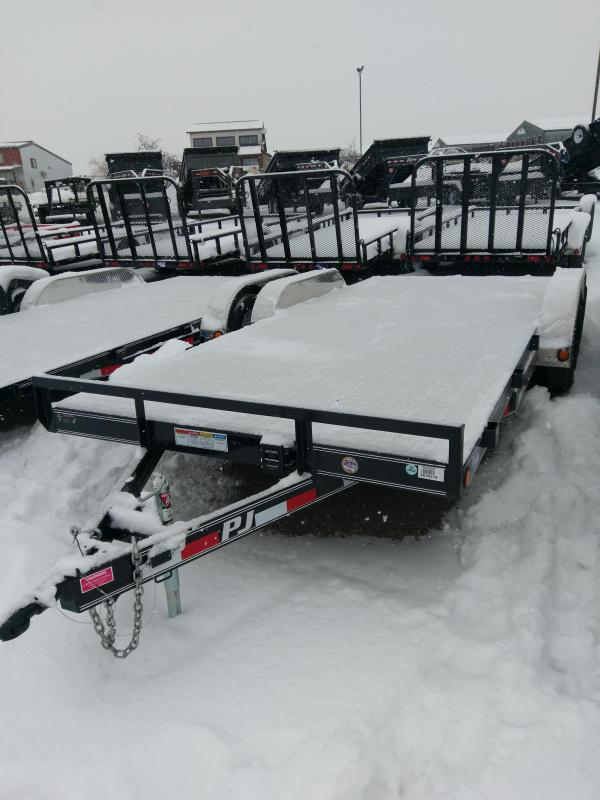 "2018 PJ Trailers 5"" Channel 18' Car Hauler"