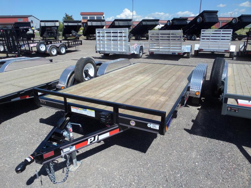 "2019 PJ Trailers 5"" Channel 16' Car Hauler"