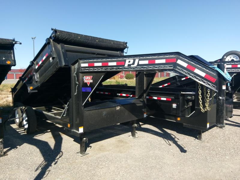 2018 PJ Trailers (D7) Goose-Neck Dump Trailer