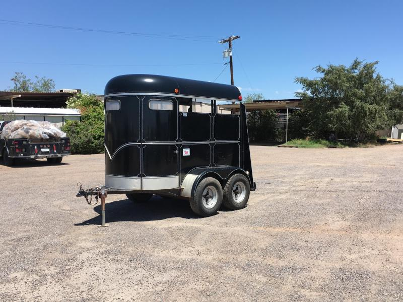 1978 HAYNE 2H BP STRAIGHT LOAD 7 TALL Horse Trailer
