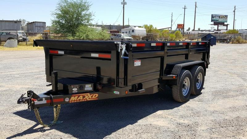 2016 MAXEY DMX 8314 DUMP W/ POWER UP AND POWER DOWN DUMP TRAILER