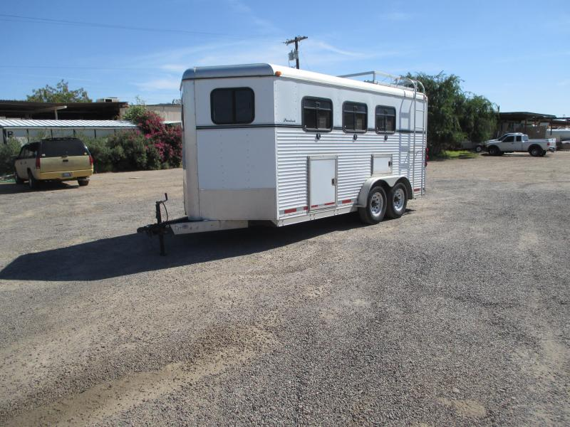 1998 Collin Ardnt Silverbrook 3H BP ****WITH MANGERS**** Horse Trailer
