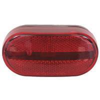 Red Oblong Reflector Marker/Clearance Light