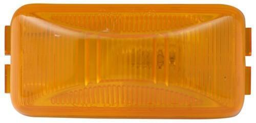 Sealed Mini Rectangular Trailer Clearance and Side Marker Light  Amber