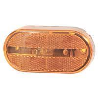 Amber Oblong Reflector Marker/Clearance Light