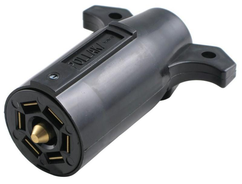 Male 7-Pole RV-Style Trailer Connector - Trailer End
