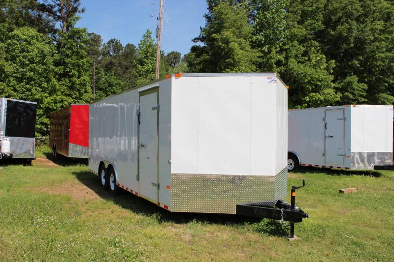 2018 Other Horton Hybrid 8.5 x 20 White Vnose Cargo Trailer Cargo / Enclosed Trailer