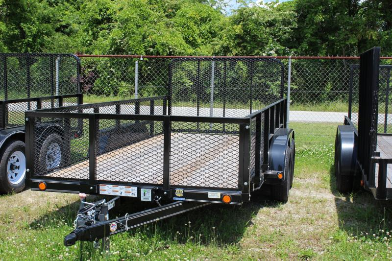 LOAD TRAIL 6.5X14 flatbed landscape trailer with wood floor