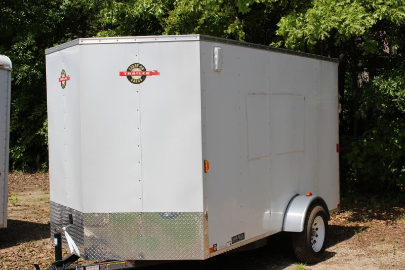 CARRY-ON 6X12 White Vnose enclosed cargo trailer