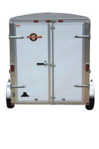 Beige CARRY-ON 5X8 CGEC Enclosed Cargo Trailer