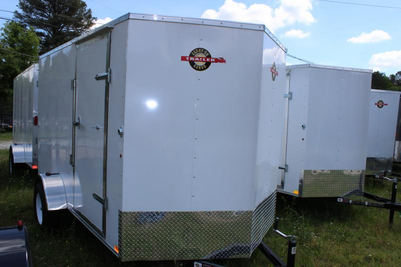 2016 Carry-On Carry-On 6x12 White Vnose Cargo Trailer Cargo / Enclosed Trailer