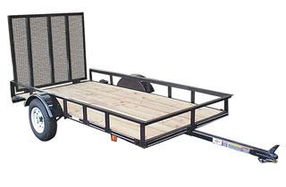 CARRY-ON Z 5X10 GW2K flatbed utility trailer with high sides