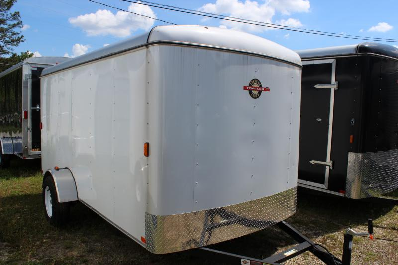 2016 Carry-On 6x12 White Carry-On Flat Nose Trailer Cargo / Enclosed Trailer