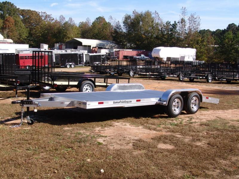 2014 ATG aluminum 7x18 Car / Racing Trailer