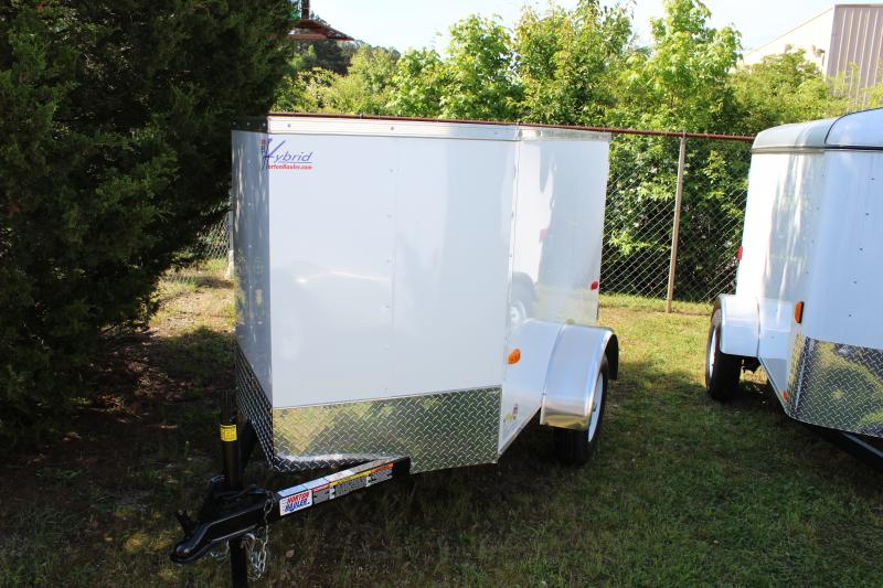 2018 Other Horton Hybrid 4x6 White Vnose Cargo Trailer Cargo / Enclosed Trailer