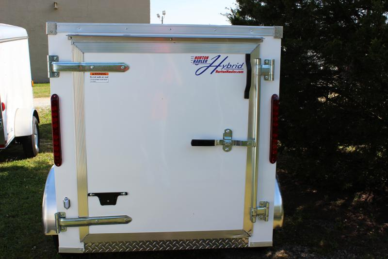 2016 Other Horton Hybrid 4x6 White Vnose Cargo Trailer Cargo / Enclosed Trailer
