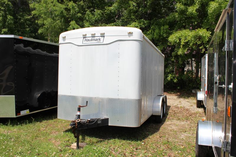 2013 Haulmark Trailers Haulmark White Flat Nose Cargo Trailer Cargo / Enclosed Trailer