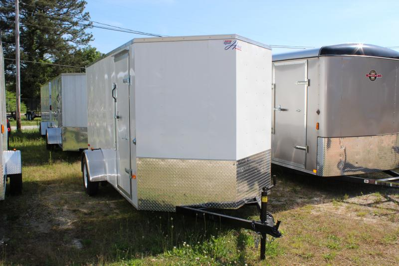 2018 Other Horton Hybrid 6x12 White Vnose Trailer Cargo / Enclosed Trailer