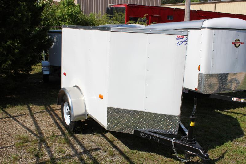 HORTON HY 4X6SA V-NOSE 4x6 enclosed cargo trailer