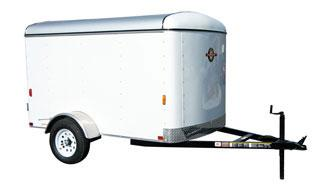 Black CARRY-ON 5X8 CGEC Enclosed Cargo Trailer