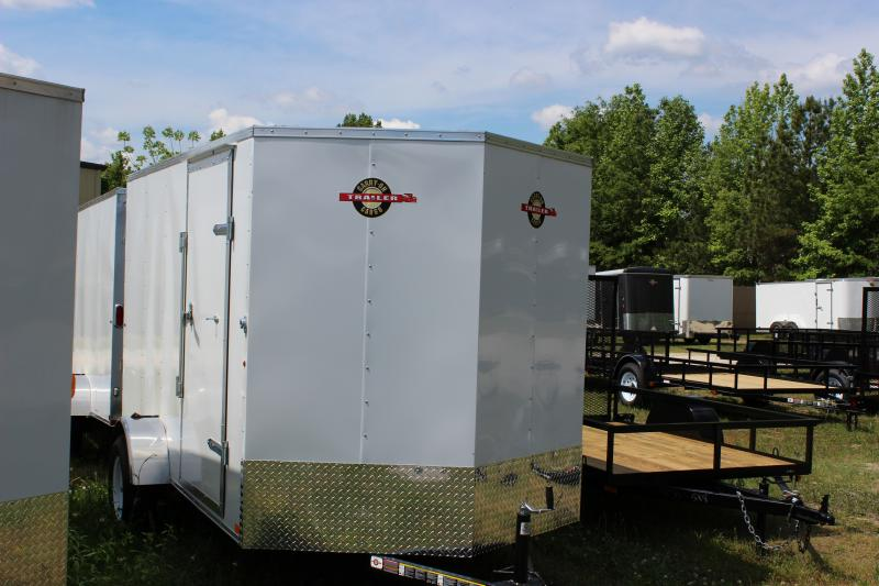 2016 Carry-On 6x12 Carry-On Vnose White Cargo Trailer Cargo / Enclosed Trailer