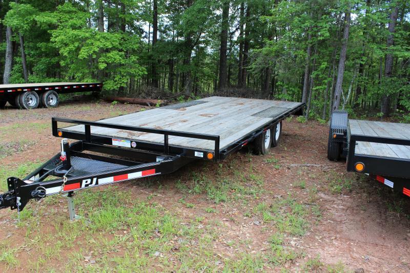 pj trailers 18 39 light duty deck over vin 4p5l51826d1182707. Black Bedroom Furniture Sets. Home Design Ideas