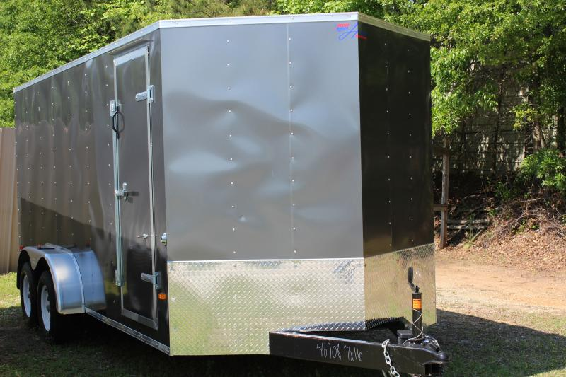 2016 Other Gray Horton Hybrid 7x16 Vnose Cargo Trailer Cargo / Enclosed Trailer