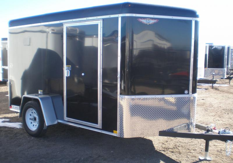 2018 H and H Trailer 6X10 Enclosed Cargo Trailer W/V-Nose