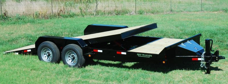 2019 Rice 7x20 Partial Tilt Flatbed Equipment Trailer 14K