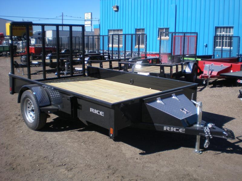 "2018 Rice ""Stealth"" 76x10 Utility Trailer-White"