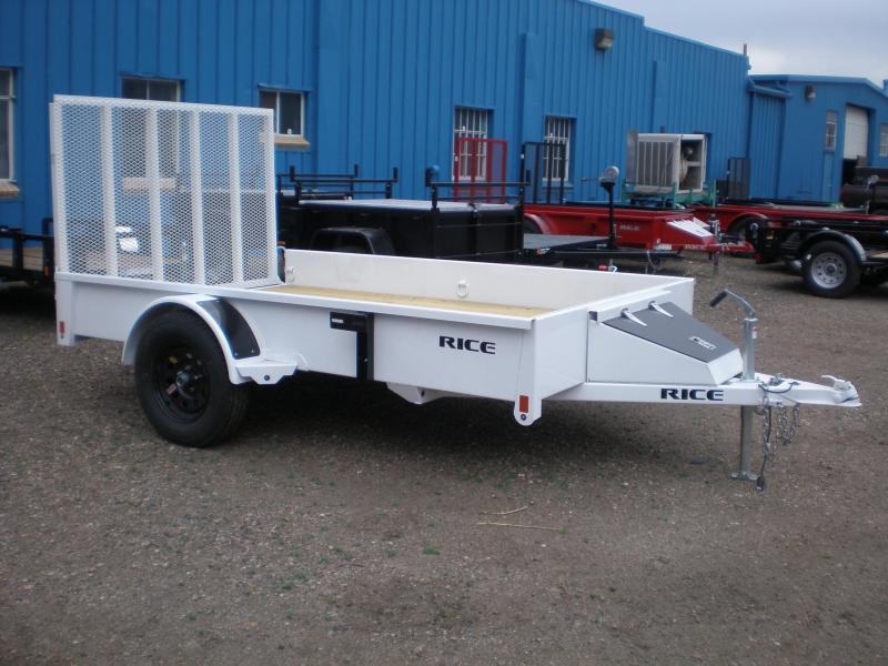 "2019 Rice ""Stealth"" 76x10 Utility Trailer-White"