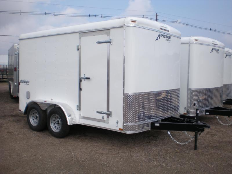 2019 Homesteader 7x12 Enclosed Cargo Trailer Double Doors