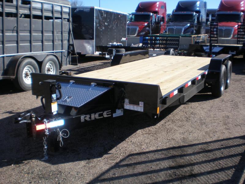 2018 Rice 7X20 10K Flatbed Equipment Trailer