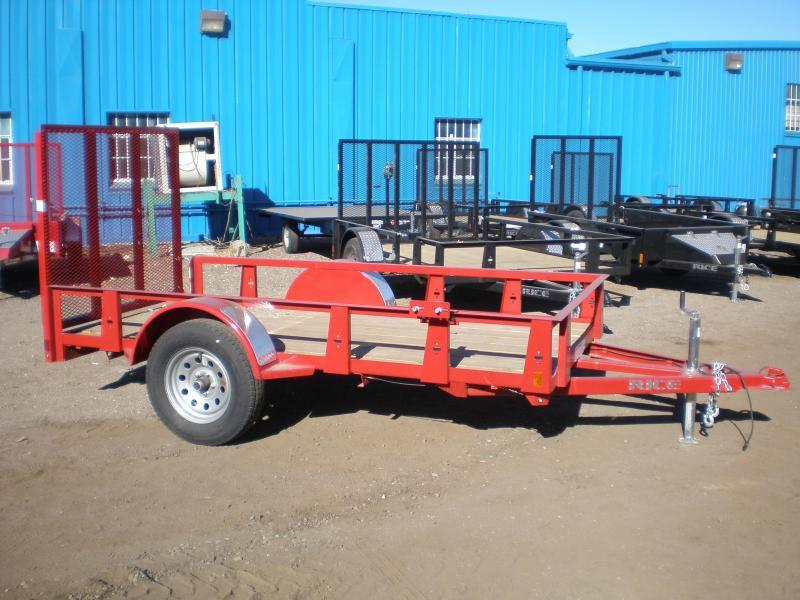 2017 Rice RS 5x10 Utility Trailer-Red