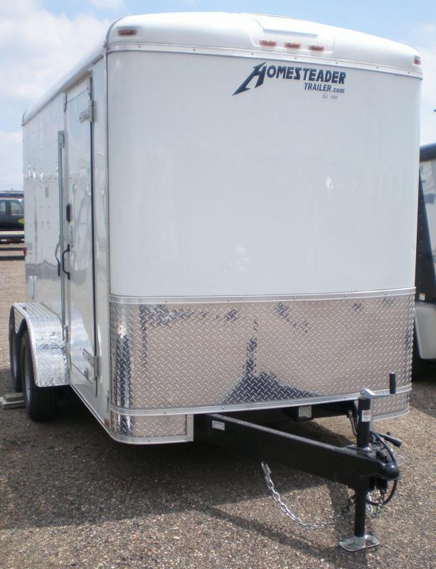 2019 Homesteader 6x12 Enclosed Cargo Trailer-Ramp Door