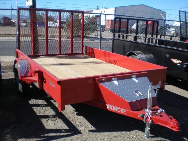 "2017 Rice ""Stealth"" 76x10 Utility Trailer- RED"